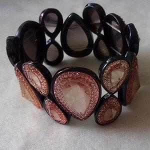 Jewelry - Apricot blush gem bracelet